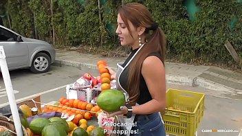 CARNE DEL MERCADO - Busty Colombian amateur Melissa Lujan gets banged hard