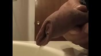 Sink piss video