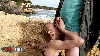 Skinny Italian Milf Yelena Vera Fucked Hard at the beach !
