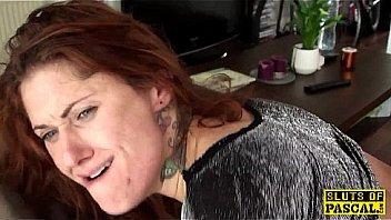 Tattooed british sub dominated with anal