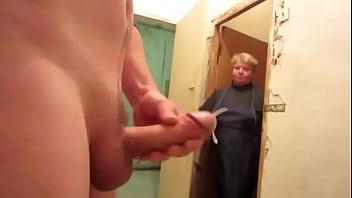 Dick flashing on old neighbor lady