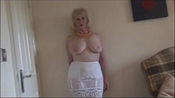 Granny mature pantyhose slip