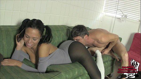Sleeping girl gets facial cumshot