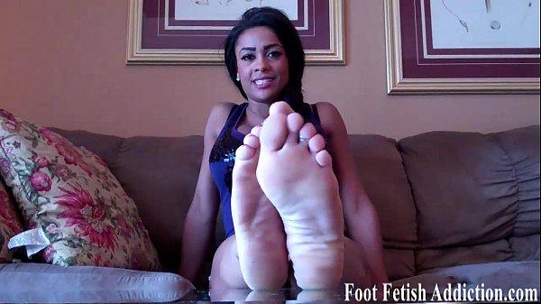 Feet ebony black cherry