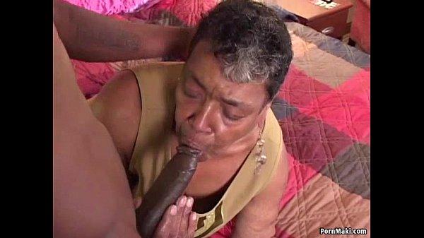 Horny ebony grandma