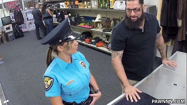 Fucking my xxx Police uniform masturbation