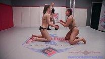 Watch Lesbian Nude Wrestling Cheyenne vs Jasmeen winner fucks loser roughly at EvolvedFightsLez preview