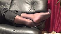 Stockinged footplay by_mom Thumbnail