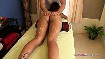THAI Chick on massage table gets laid ภาพขนาดย่อ