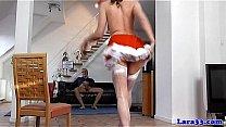 Brit milf in christmas stockings gets cumshot Thumbnail