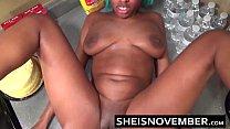 Ebony Step Sister Msnovember Is Fucked In Kitchen Hardcore Bro Sex & Blowjob POV صورة