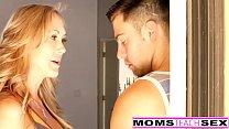 MomsTeachSex - Hot Yoga Mom Fucks Son And Teen GF Thumbnail