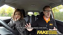Fake Driving School young ebony enjoys creampie for free lessons Thumbnail