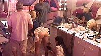 Smoking hot babes masturbating behind the scenes of a porn company's Thumb