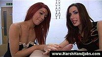 Two angry babes give harsh handjob's Thumb