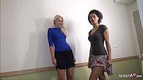 German Amateur - Zwei Nutten vom Strassenstrich in Berlin mitgenommen und beim Ficken gefilmt