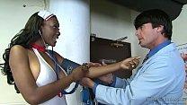 Ebony nurse Naomi Banxxx's Thumb