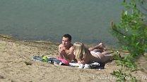 outdoor pussylicking on beach Thumbnail
