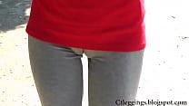 Hot_Girl_walking_in_leggings,_full_cameltoe_visible__ Thumbnail