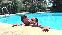 Melonechallenge Mallorca special casting threesome outdoor with Mea Melone صورة