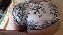 Lesbian fucked his girlfriend through shorts, fatty, shaking booty. صورة
