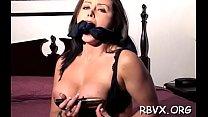 Lustful bitch in bondage act's Thumb