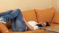 Slava Foltos real innocent girl. She shows her virginity (hymen) close-up! Thumbnail
