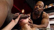 Interracial Anal Gangbang with BBC Slut Kate England's Thumb