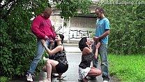 Pregnant girl risky PUBLIC street swinger orgy gangbang Thumbnail