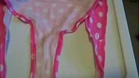 Daughter panties on cum