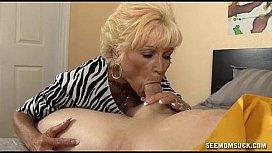 Blow job granny wife