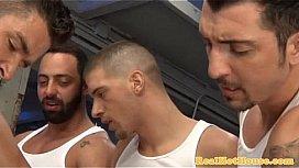 gaysex jocks enjoying group action