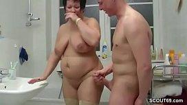 Girl in satin pantie sex