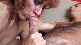 Mature Lady Eats Cum