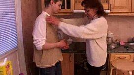Caught aunt in the kitchen in his underwear - XNXX.COM