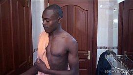 Black african twink dubaku jerks off