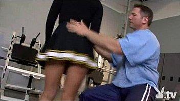 Hot Cheerleader Fucked at the Gym!