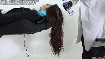 washing girl hair