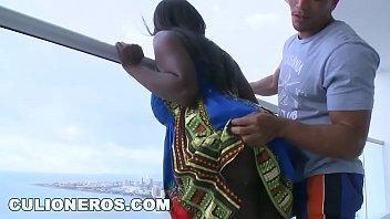 Bonita colombiana negra y bien tetona follando su conjo rojo - 3 part 10