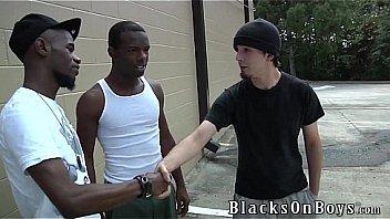Cody jameson receives a pair of big dark dicks