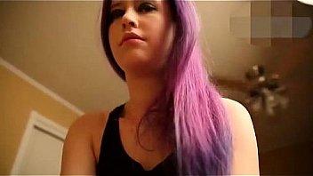 Purple teen hair emo busty