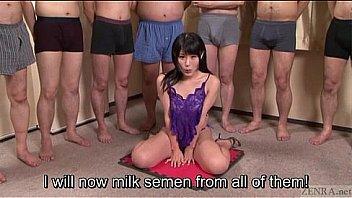 Subtitled Japanese Av Star Monbu Ran Uncensored Blowjob