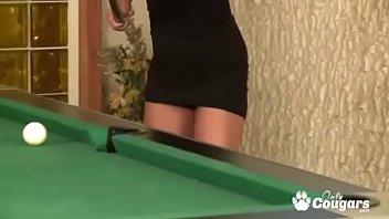 Advise blond fucked on pool table