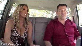 Amazing natural tits car sex