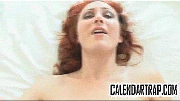 Pale redhead with big tits fucks a big cock POV