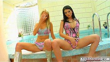 Big tits in monokini porn tube