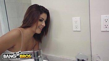 Brunette Latina Mia Martinez gives hot blowjob