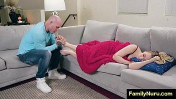 Romantic foot massage