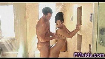 Asa Akira shower with horny guy