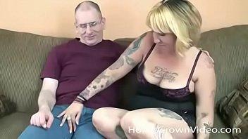 Big tit chubby milf blonde...